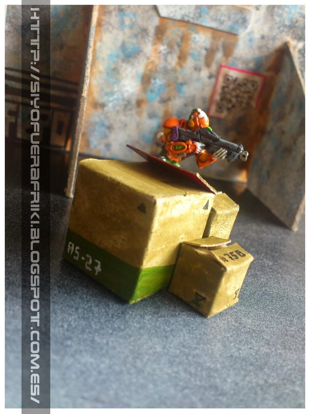 Si yo fuera friki...: Escenografía fácil: Cajas de cartón