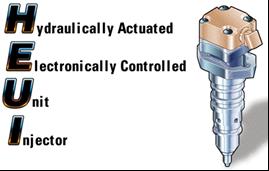 HEUI, Inyectores unitarios de control eléctrico en motores Caterpillar