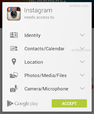How to Download and Install Instagram Application on Android - Accept