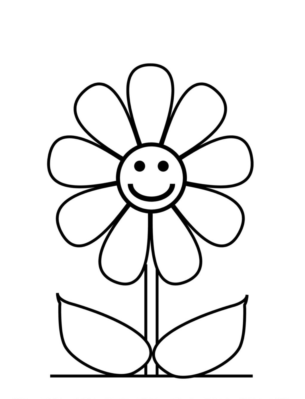 coloring page flower flower coloring page