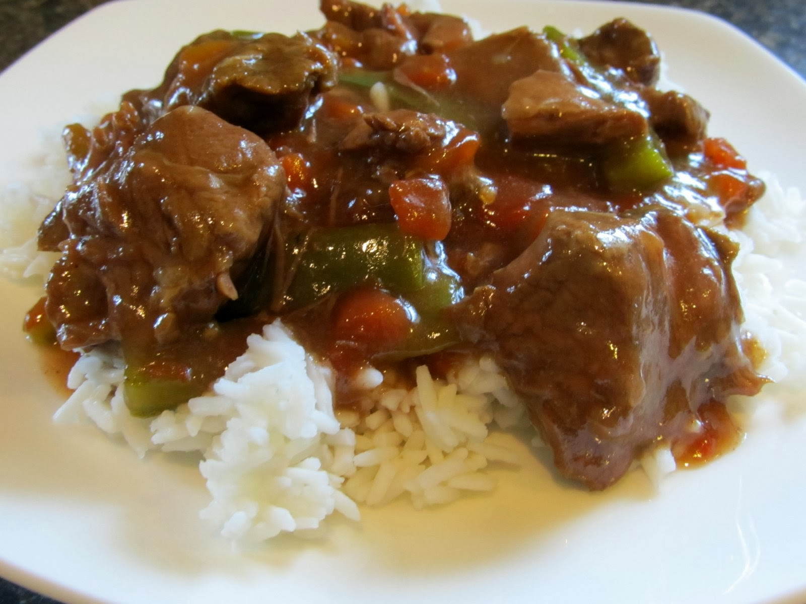 Slow Cooked Pepper Steak