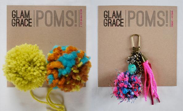 GLAM & GRACE pom poms