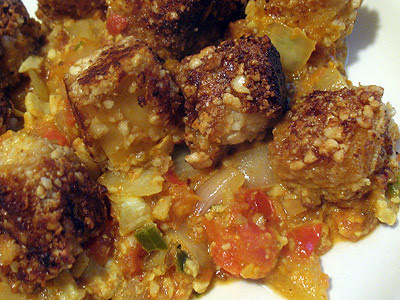 Spicy Cashew-Crusted Paneer with Tomato-Cashew Gravy