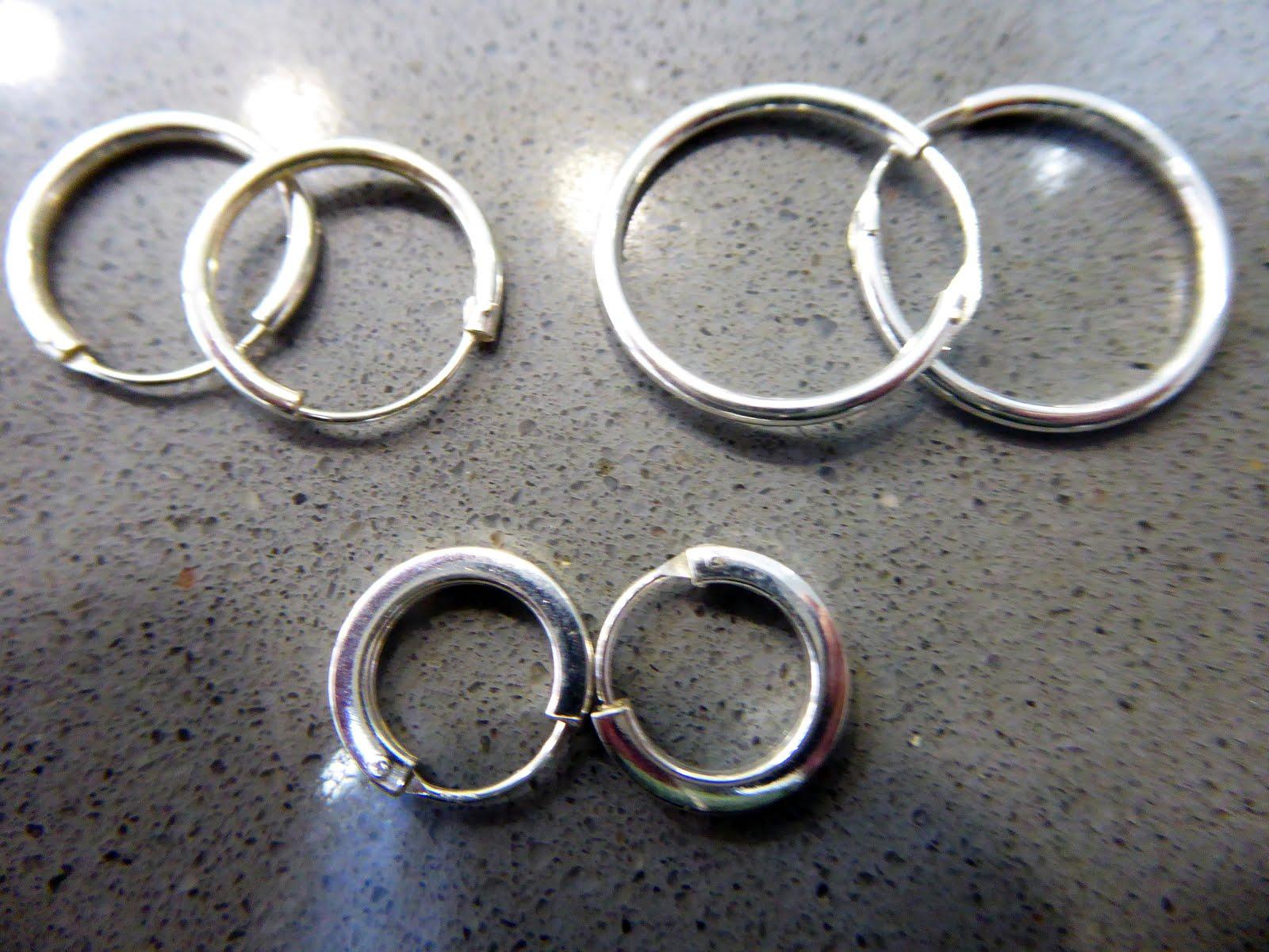 Pendientes de aro de plata