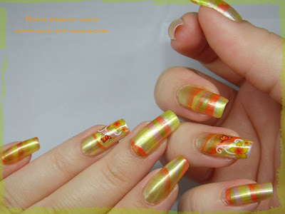 Nail Art Water marble d' Automne5