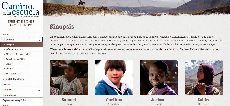 http://www.caminoalaescuela.com/sinopsis/