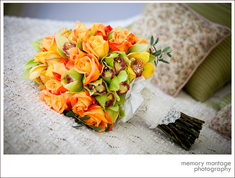 wedding bouquet flowers yakima pink purple orange green white