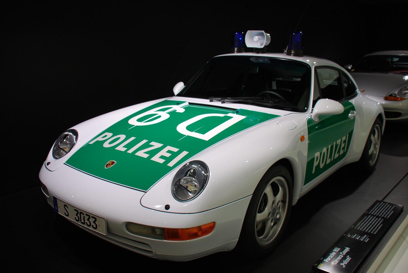 Porsche Cars in Their Porsche Police Car