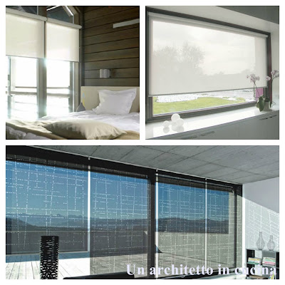 Un architetto in cucina le tende moderne a pacchetto a - Tende x finestre scorrevoli ...
