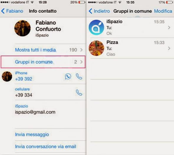 grupos comunes Whatsapp