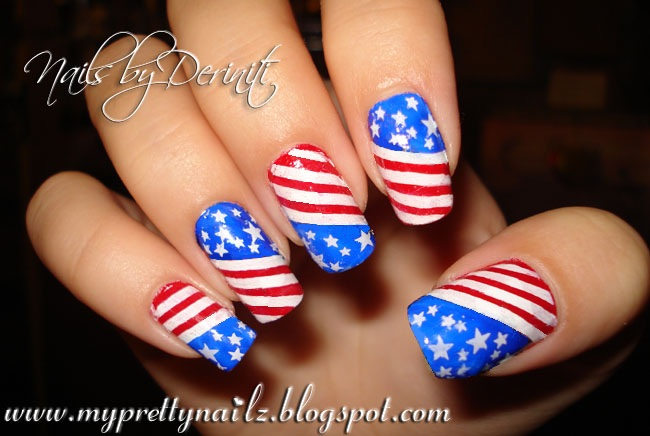 My Pretty Nailz Freedom Nails 911 Nail Art September 11 Nail