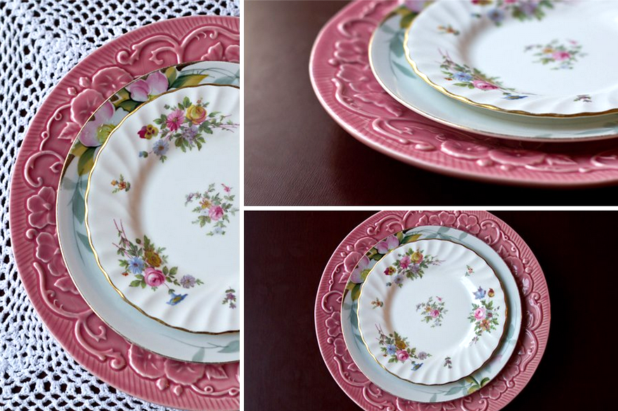 vintage china for wedding table