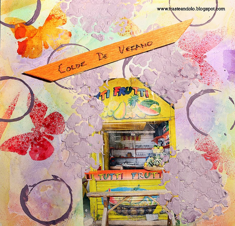 pagina de art journal color de verano trasteando