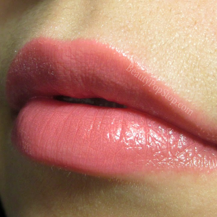 mac patentpolish lip pencil Go For Girlie swatch and review
