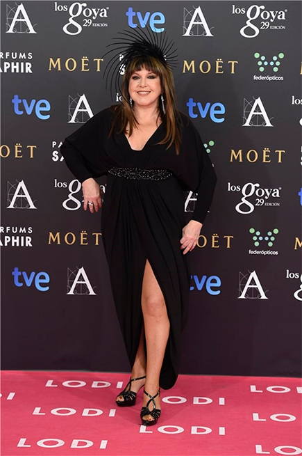 Loles León en la gala de los Goya 2015