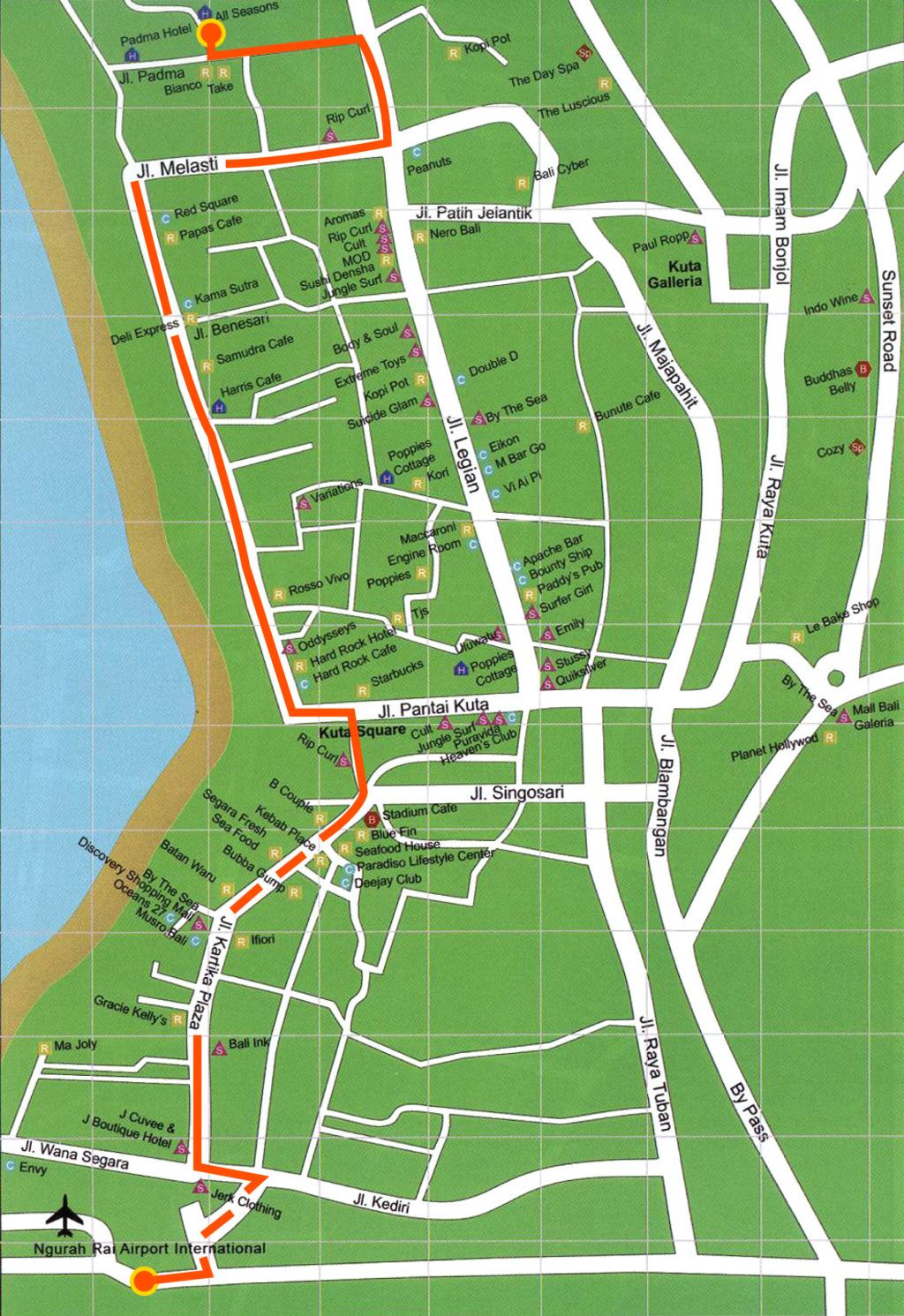 Peta Kuta Bali