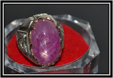 Cincin Delima Cindai Asli Star / Gemstones Natural Star Ruby (AVAILABLE)