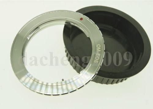 Olympus OM Lens to Canon EOS Camera Mount Adapter+CAP