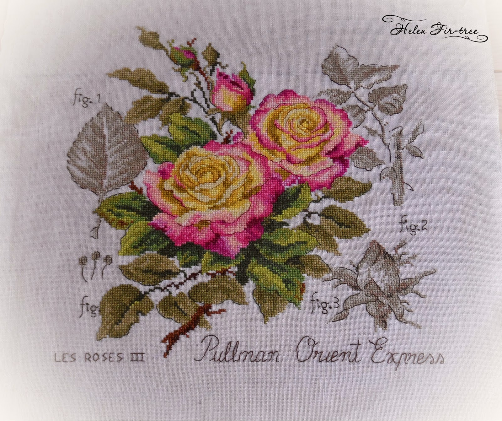 Helen Fir-tree вышивка cross-stitch Pullman Oreint Express 4