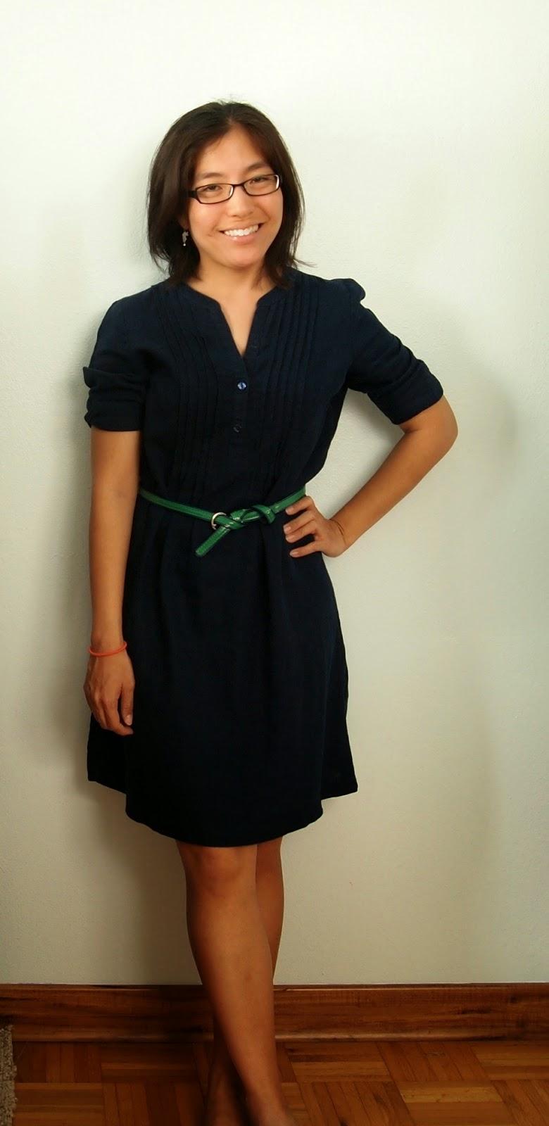 navy dress green belt teacher style teacher outfit