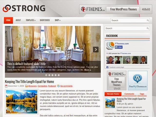 Strong - Free Wordpress Theme