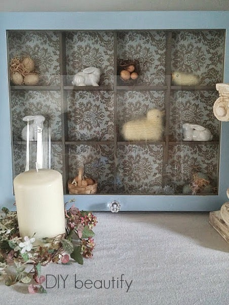 Decorating a Shadow Box for Easter