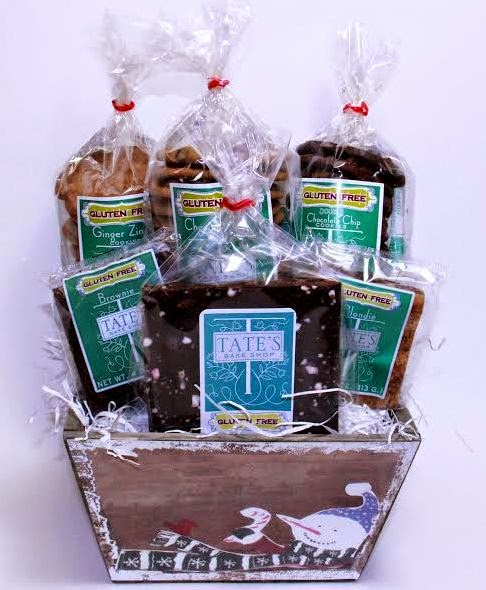 Gluten free philly goodies giveaway tates bake shop holiday basket its been a while since ive offered a giveaway but the wait was worth it ive been a big fan of tates bake shops gluten free chocolate chip cookies negle
