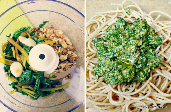 How to make Swiss Chard Pesto