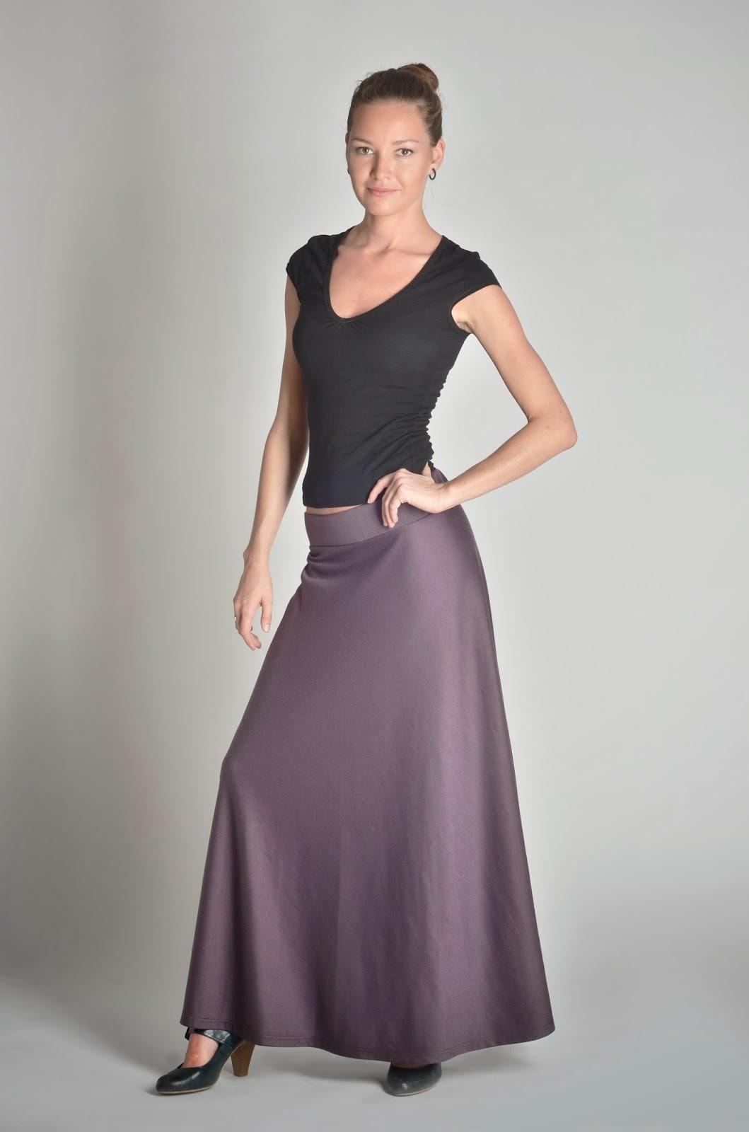 Трикотажная юбка с одним швом