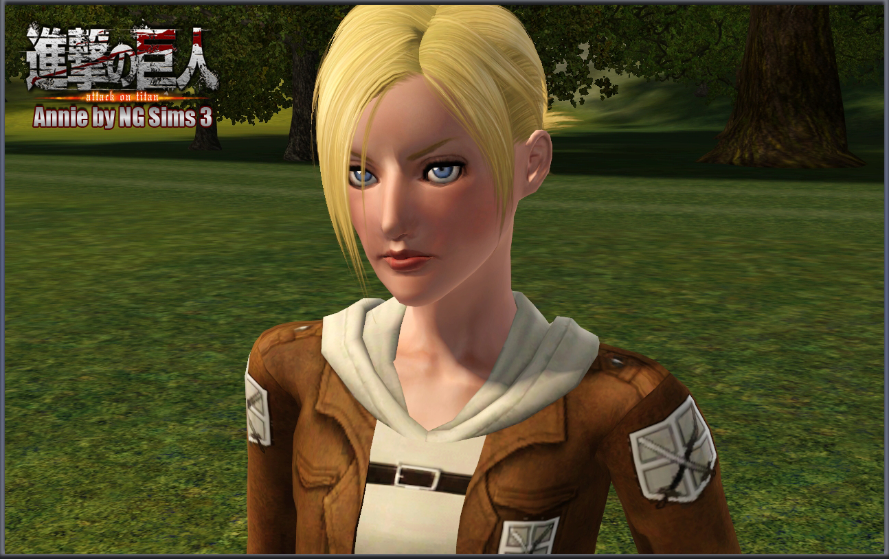 Sims 3 Anime Characters : Ng sims annie shingeki no kyojin attack on titan