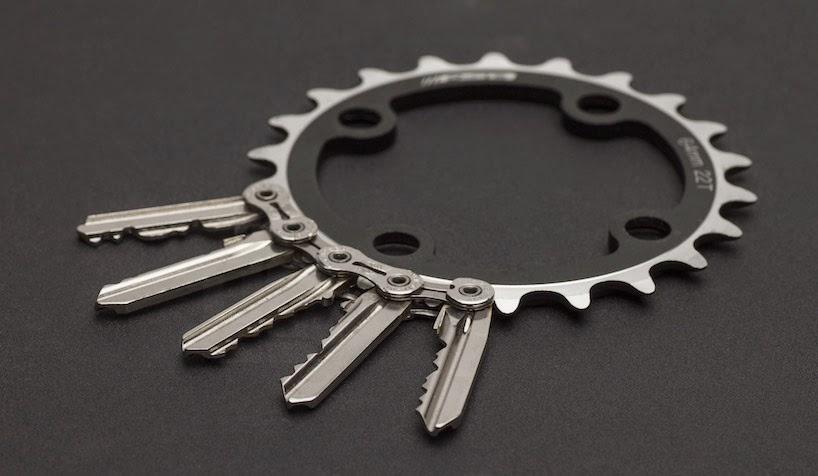 Llaveros con Cadenas Recicladas de Bicicleta