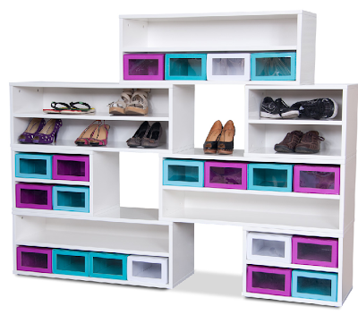 modular shoe cabinet