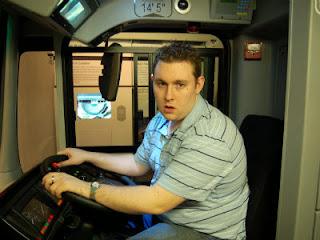 A grumpy bus driver
