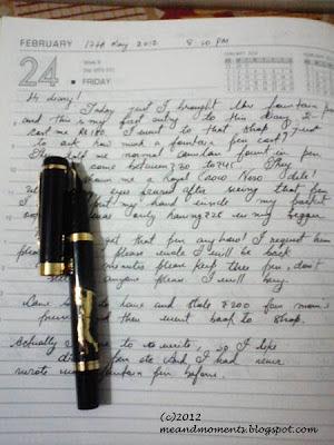 my diary, dear diary, hand written diary