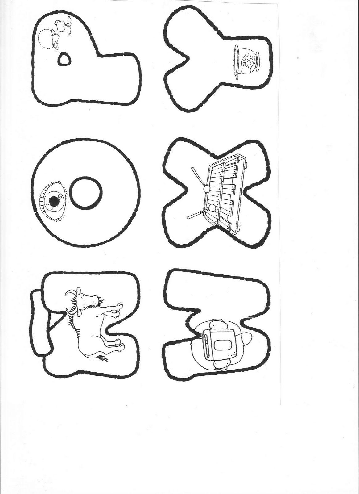 Plantillas para hacer letras en foami - Imagui
