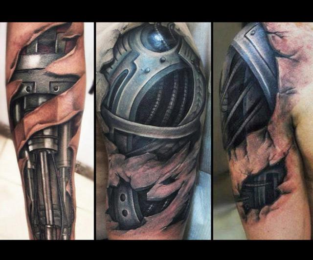 sequ ncia impressionantes tatuagens cyborg 3d realistas. Black Bedroom Furniture Sets. Home Design Ideas