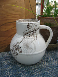 early aesthetic jug with cobwebs $50