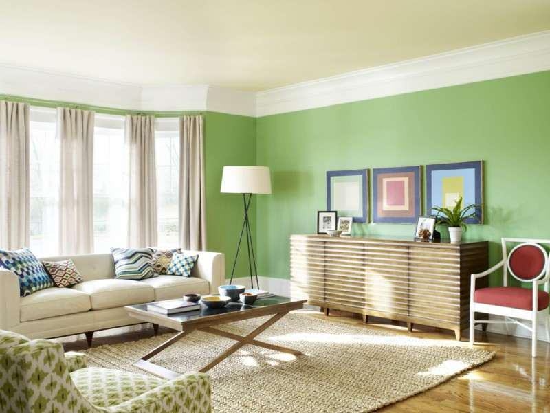 Makes Right colors for living room walls wood construction