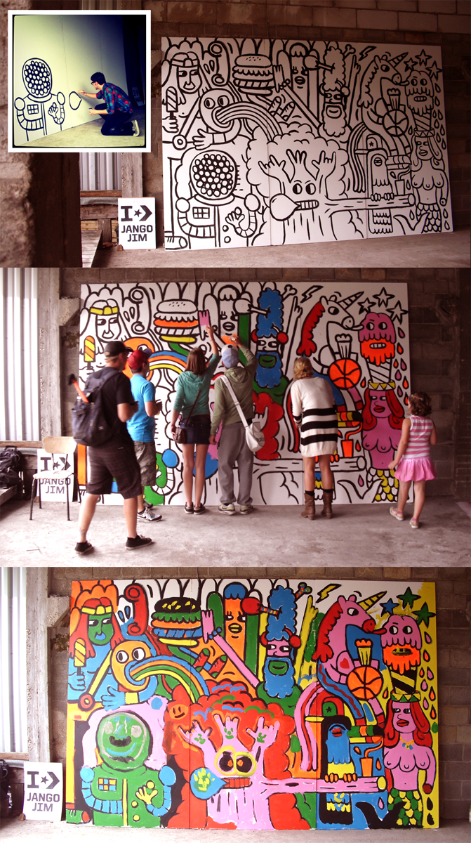The explorations of jangojim converse block party mural for 6 blocks from downtown mural