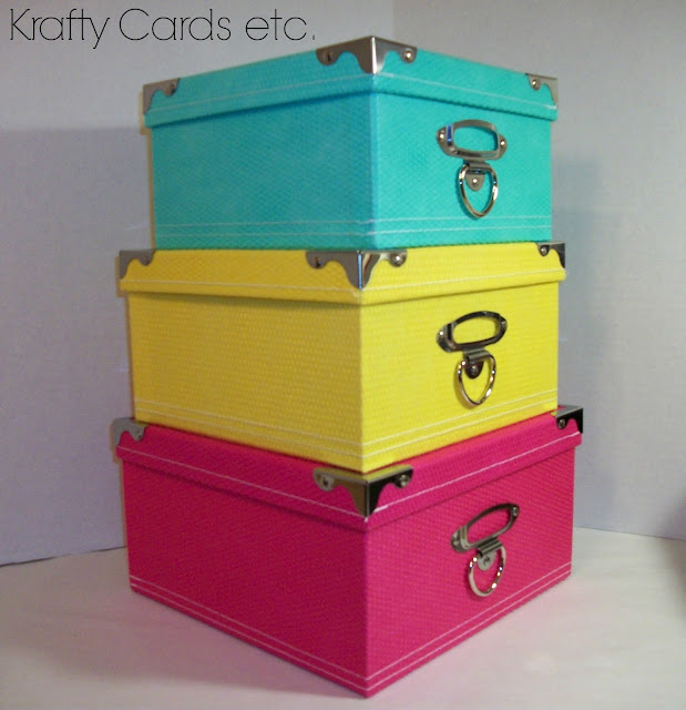 found these great storage boxes at AC Moore and the best part was ...: kraftycardsetc.blogspot.com/2013/07/craft-room-update-storage-boxes...