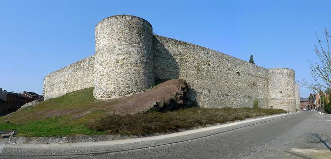 100 km de Binche (B): 18-19 juillet 2014 Rempart+de+Binche+panorama+1