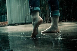 girl bathing in rain cover photo for facebook