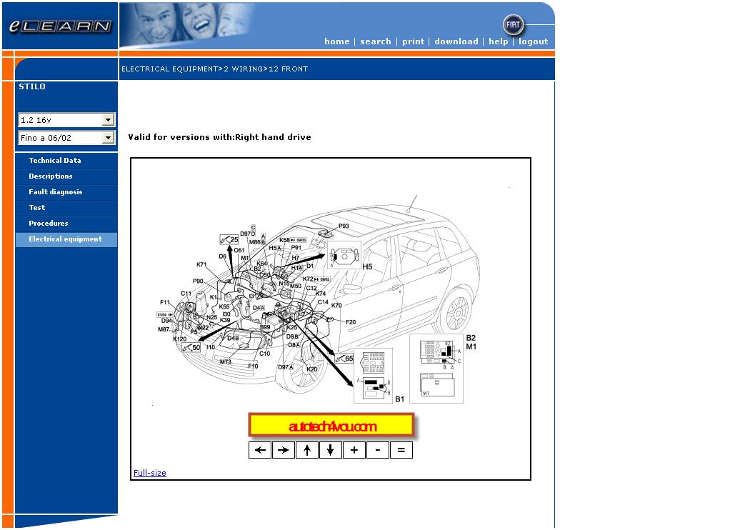 Fiat Stilo Service Manual الموقع الأول فى الشرق الأوسط