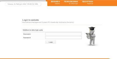 www.rekrut.kereta-api.co.id | Pengumuman Hasil Seleksi PT Kereta APi 2012