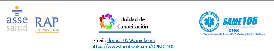 Desarrollo Profesional Médico Continuo_________ de RAP ASSE Metropolitana y de SAME  105