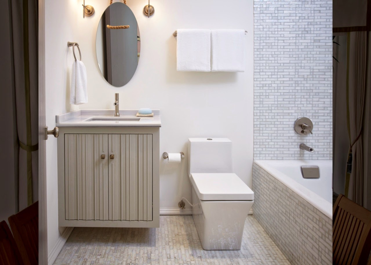 Không rườm rà chỉ cần chiếc bồn cầu thông minh tinh gọn, chậu rửa âm bàn và bồn tắm đứng hiện đại