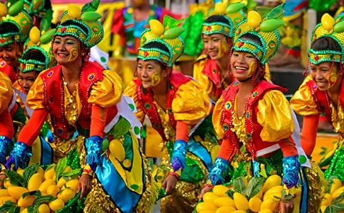 Children Performing at Festival in the Philippines