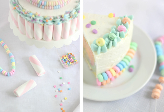 My Method For Accessorizing The Cake With The Candy Necklaces Is Demonstrated In The Picture Above I Snipped The Elastic String With Scissors And Then