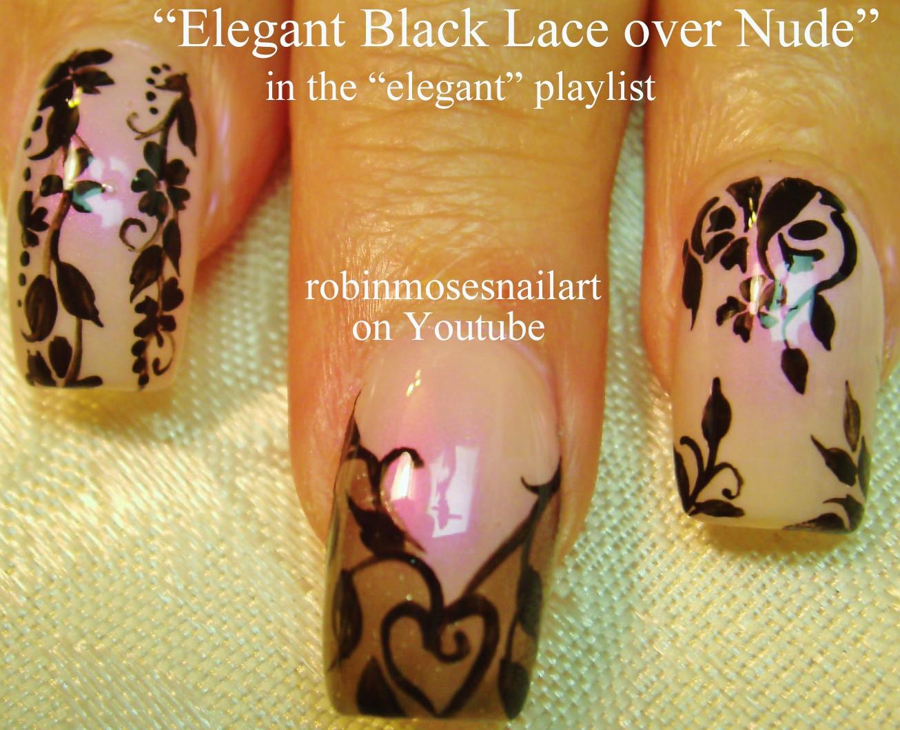 Nail Art Design Black Lace Nail Art Elegant Lace Nail Art Nude