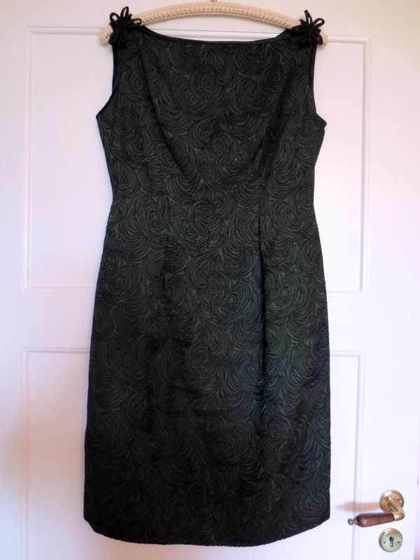 1960's cocktail dress in dark green and black